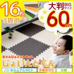 RENEW ジョイントマット 大判 プレイマット 防音 抗菌 安全 床暖房対応 送料無料 60cm 16枚 3畳