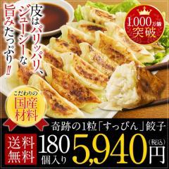 奇跡の一粒「すっぴん」餃子180個!送料無料☆タレなしでお召し上がりできます!