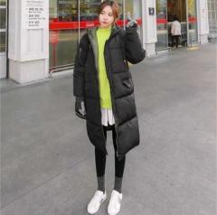 韓国ファッション 人口羽毛 ウェルロン素材 ロング ダウンジャケットコート