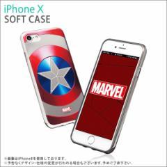 iPhone X ソフトケース S2BMSTIP8-CS【7210】 MARVEL Design マーベルヒーロー キャプテン・アメリカ シールド ROOX