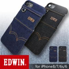 iPhone8/7/6/6s背面ケース 【EDWIN/エドウィン】 「ステッチデニム」