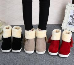 【送料無料】冬 厚底ショートブーツ  可愛い裏起毛  スノーブーツ