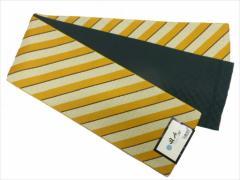 半幅帯 半巾 細帯 浴衣帯 四寸帯 リバーシブル四寸帯 日本製 カラシ地 横縞 柄 no2959