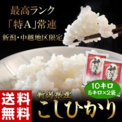 《送料無料》新潟県産「コシヒカリ」 白米 10kg(5kg×2袋) ○