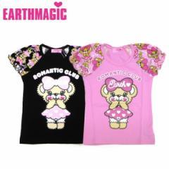 EARTHMAGIC アースマジック 子供服 18春 ワンピースマフィー袖切り替えTシャツ ea38141243