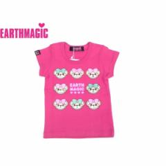 EARTHMAGIC アースマジック 子供服 18春 マフィーフェイスバックロゴTシャツ ea38541911