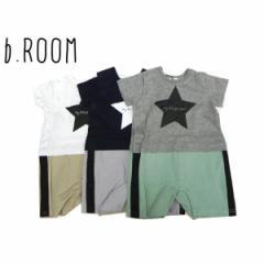 b-ROOM ビールーム 子供服 18夏 星×ラインプリントロンパース ベビー br9982504