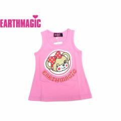 EARTHMAGIC アースマジック 子供服 18夏 ウィンクマフィーノースリーブワンピース  ea38242522