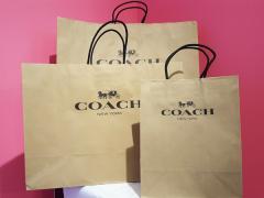 【購入者様限定】プレゼントに!コーチ COACH 紙袋 ペーパーバッグ 小物 財布 長財布 バッグ ギフト用 ラッピング アウトレット