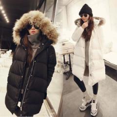 4色 ダウンコート レディース アウター コート ロングコート 大きいサイズ ダウンジャケット 冬 防寒 フード付 ファー アウター 暖かい