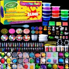 HSETIY slime kitフリースライムおもちゃ、動物 ふわふわスライム香りストレスリリーフバブルガムフレグランス