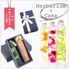 プリザーブドフラワー スイーツギフトセット 『herbarium ハーバリウム with ケーク』【花 結婚祝い 新築祝い プレゼント】【送料無料】