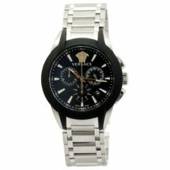 ヴェルサーチェ VERSACE キャラクター クロノ VEM800218 ブラック シルバーベルト メンズ 時計 ウォッチ