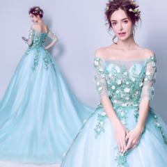 b027782dfba48 グリーン カラードレス ウェディングドレスパーティードレス 花嫁ドレス イブニングドレス ロングドレス 結婚式ワンピース