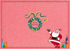 ペーパー・ランチョンマット『クリスマス サンタF』 10枚入 (B4版)  LUN-457