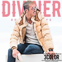 ダウンジャケット メンズ ブルゾン 中綿ジャケット ダウン 中綿ダウン ジャケット コーデュロイ 防寒 DIVINER ディバイナー trend_d