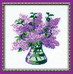RIOLISクロスステッチ刺繍キット No.603 「Bunch of Lilac」 (ライラックの花束)