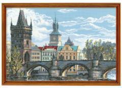RIOLISクロスステッチ刺繍キット No.1058 「Charles Bridge - Prague」 (チェコ共和国 プラハ カレル橋)