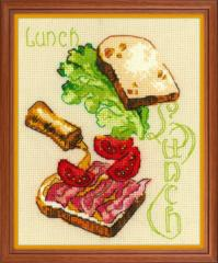 RIOLISクロスステッチ刺繍キット No.1685 「Lunch」 (昼食) 【海外取り寄せ/納期1〜2ヶ月】
