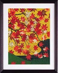 Olympusクロスステッチ刺繍キット 7189「吉野龍田図屏風」 オリムパス
