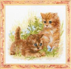 RIOLISクロスステッチ刺繍キット No.1391 「Child Play」 (猫)