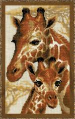 RIOLISクロスステッチ刺繍キット No.1697 「Giraffes」 (キリン) 【海外取り寄せ/納期1〜2ヶ月】
