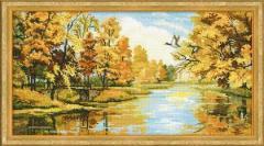 RIOLISクロスステッチ刺繍キット No.1334 「Silent Autumn」 (静かな秋)