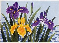 東京文化刺繍キット146「あやめ」 【3号】 【花・植物】 菖蒲 あやめ
