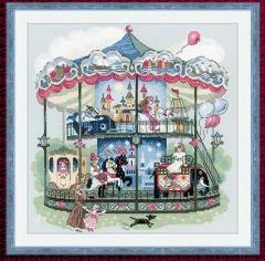 RIOLISクロスステッチ刺繍キット No.1458 「Carousel」 (回転木馬) 【海外取り寄せ/納期30〜60日程度】