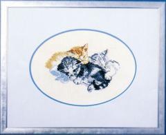 OOE クロスステッチ刺繍キット 44102 猫柄 【取り寄せ/納期40〜80日程度】