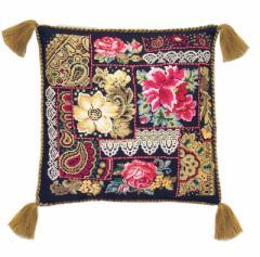 RIOLISクロスステッチ刺繍キット No.761 「Flower Composition」 Cushion (フラワーコンポジション クッション40cm角)