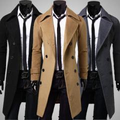 メンズ トレンチコート ロングコート ジャケット チェスターコート ビジネスコート 大きいサイズ ダブルボタン 紳士 ビジネス