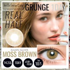 NEW<GRUNGE SERIES>-MOSS BROWN- 14.2mm teamo グランジ モス ブラウン 1day ワンデー カラコン