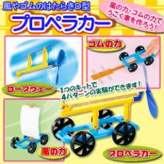 風やゴムの働き D型プロペラカー 【風やゴムなど4つの動力で走ります!】