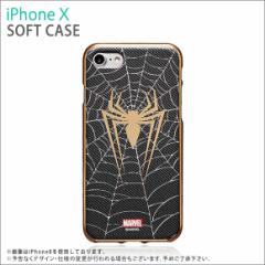 iPhone X ソフトケース S2BMSTIP8-SP【7241】 MARVEL Design マーベルヒーロー スパイダーマン ROOX
