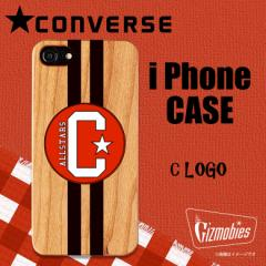 iPhone 8 iPhone 7 iPhone 6 ウッドケース AB-0743-IP67【7266】 CONVERSE コンバース C LOGO BROWN ベロシティ
