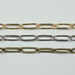 チェーン N-409 1m ゴールド ロジウム シルバー アンティーク 古美 メッキ 真鍮 金