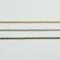 チェーン N-314 1m ゴールド ロジウム シルバー アンティーク 古美 メッキ 真鍮 金