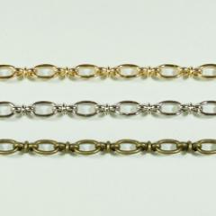 チェーン N-1301 1m ゴールド ロジウム シルバー アンティーク 古美 メッキ 真鍮 金