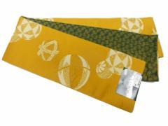 半幅帯 半巾 細帯 浴衣帯 四寸帯 リバーシブル四寸帯 日本製 カラシ地 手まり 柄 no3037