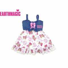 EARTHMAGIC アースマジック 子供服 18春 ロマンチックマフィー総柄ジャンパースカート ea38114278