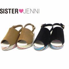 JENNI ジェニィ ジェニー 子供服 18夏 カラフルウエッジサンダル je88525