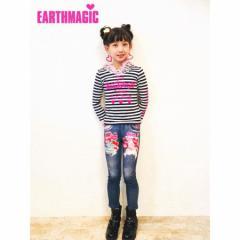 EARTHMAGIC アースマジック 子供服 18春 マフィーストレッチミニ裏毛スキニーパンツ ea38150178