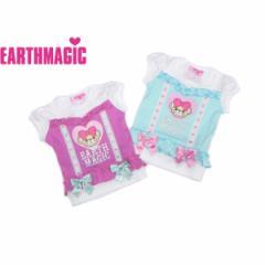 EARTHMAGIC アースマジック 子供服 18春 レイヤード風フリルリボンTシャツ ea38141263