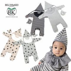 BILLYtheKID CLOTHING ビリーザキッドクロージング 子供服 ベビー ボーダーロンパース3点set  b064015z