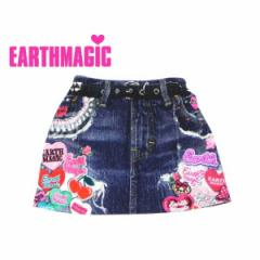 EARTHMAGIC アースマジック 子供服 18春 マフィーストレッチミニ裏毛スカート ea38153177