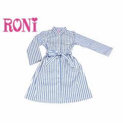 RONI ロニィ ロニー 子供服 18春 ストライプライトデニムロングシャツガウン r1381131001211