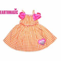 EARTHMAGIC アースマジック 子供服 18夏 ギンガムチェック柄ワンピース  ea38214559