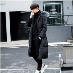 ダウンコート メンズ 超ロング コート ダウンジャケット ファー付き スリム アウター フード付き 大きいサイズ 防寒 防風