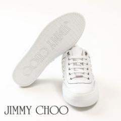 JIMMY CHOO ジミーチュウ レザー ローカットスニーカー ホワイト ACE OMX 174 ULTRA WHITE